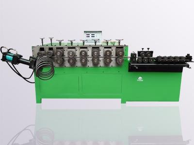 供应赵氏弹簧打圈机 扁钢异形带冲孔打圈机 高精度伺服打圈机 河北打圈机